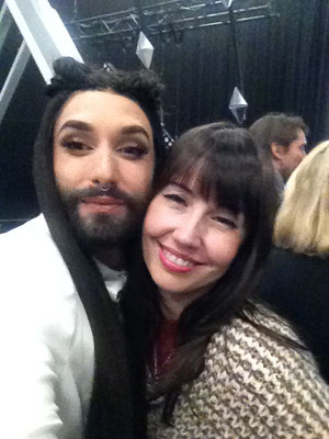 Silvia with Conchita Wurst
