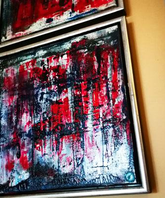 """""""Ruine"""" 2er Set, 40 cm x 40 cm inkl. Rahmen, Öl, Acryl, Print"""