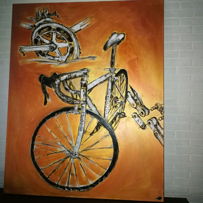 Cycle Tour 120cm ×150cm oil/acryl/lack