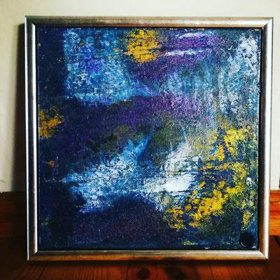 ohne Namen, 30 cm x 30 cm inkl. Rahmen, Acryl, Öl- Mischtechnik