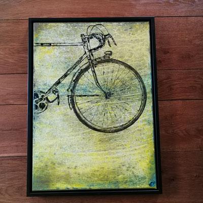 Tour  70cm × 50cm  acryl /oil