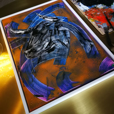 Eltoro 50cm ×70cm oil /acryl/lack