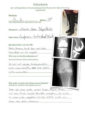 sehr junge Rheumapatientin - Auswahl einer Individualprothese mit geringem Knochenverlust und Herstellung der eigenen Anatomie