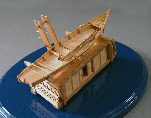 31-31 弁才船搭載の伝馬船付 Tenma-sen  19世紀初期 日本  1/50  スクラッチビルト 寿司範二