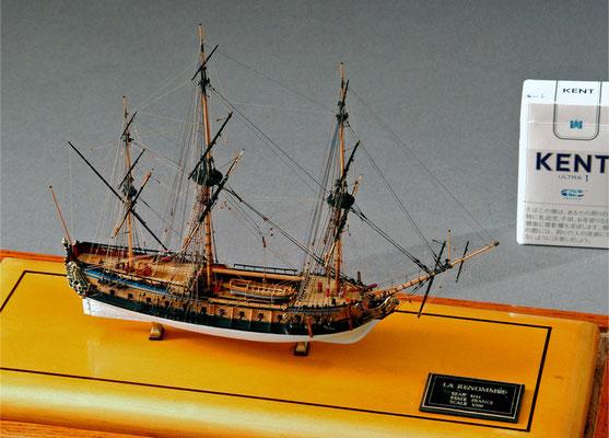31-27 ラ ・ルノメ  LA RENOMMEE  1744年 フランス  1/300  スクラツチビルト 坪井悦朗 Etsuro Tsuboi