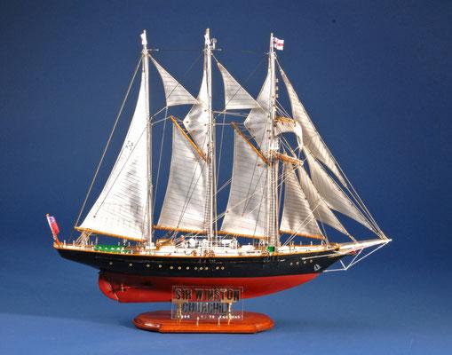 34 サー・ウインストン・チャーチル   SIR WINSTON CHURCHILL  年代:    1966   船籍:  イギリス  縮尺:    1/75    ビリング・ボート  製作者:  古谷白夫  製作期間:  1年3ヶ月