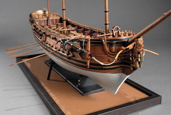 30-34 ブランドフォード  H.M.S.BLANDEFORD  1731 イギリス  1/64 スクラッチビルト  谷亀 隆興