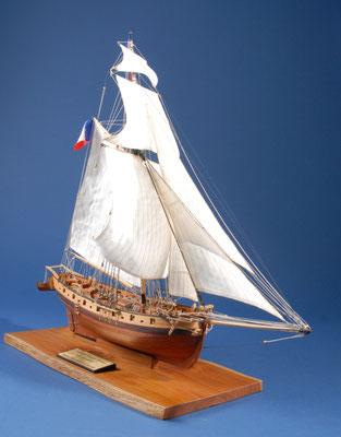 23 ル・ルナール LE RENARD  年代:    1812   船籍: フランス  縮尺:    1/50    ソクレイヌ   製作者:  堀岡長紀  製作期間:1年5ヶ月