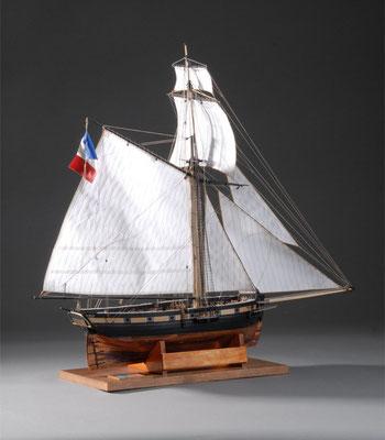 36-37 シャノワール LE CHATNOIR  1815年  フランス  1/64 自作 Scratchbuilt  川島壮介 Sosuke Kawashima