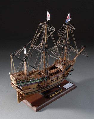 36-3 ゴールデン・ハインド  GOLDEN HIND  1577年  イギリス  1/53| キット マモリ社(C.Mamoli)  中山 寅男 Torao Nakayama
