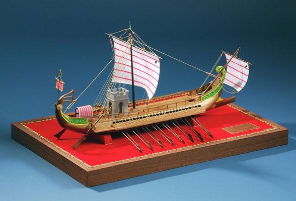 35-1 シーザー(ローマの2段櫂船)  CAESAR  紀元前30世紀  ローマ帝国  1/30   岩倉 義昌 Yoshimasa Iwakura