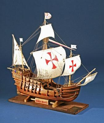 35-4 サンタ マリア SANTA MARIA  年代   1492     船籍  スペイン     縮尺 1/45   キット Woody Joe    浦村 達也  Tatsuya Uramura
