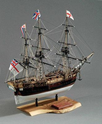 31-12 バウンティー H.M.S.BOUNTY  1787年 イギリス  1/60   マモリ社 根本 悟 Satoru Nemoto