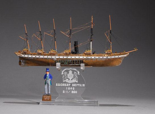 32-43 グレート・ブリテン  S.S.GREAT BRITAIN  年代:    1843年  製作者:  宮島俊夫  (未完)