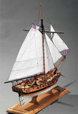 32-6 フェレット H.M.Sloop FERRETT 年代:      1711年  製作者:   牧野忠孜  製作期間:1年6ヶ月