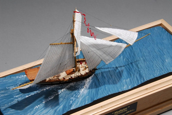 34-60 Mediater-Colonial American Sloop  国 籍   nationality     アメリカ 建造年  age     1742 縮 尺   scale   1/192 製作方法 kit or scratchbuilt     自作  製 作: ガス・アガスチン Gus Agustin