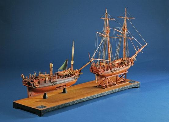 35-47 ハリハックス HMS HALIFAX   年代   1768     船籍  イギリス    縮尺 1/54     素材   自作   Scratch built    製作者  堀川 洌    Kiyoshi Horikawa