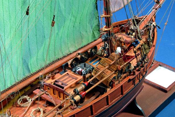 45    ロブスター・カッター    Lobster Cutter  年代:   1890    船籍: フランス  縮尺:   1/35    製作者:   堀川 洌   製作期間: 6ヶ月