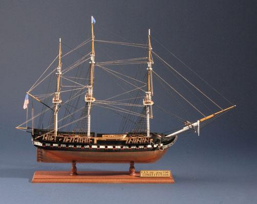 22 コンスチチューション  U.S.S CONSTITUTION  年代:    1797   船籍: アメリカ  縮尺:    1/140    ウッディジョー  製作者:    高橋 宏  製作期間: 10ヶ月
