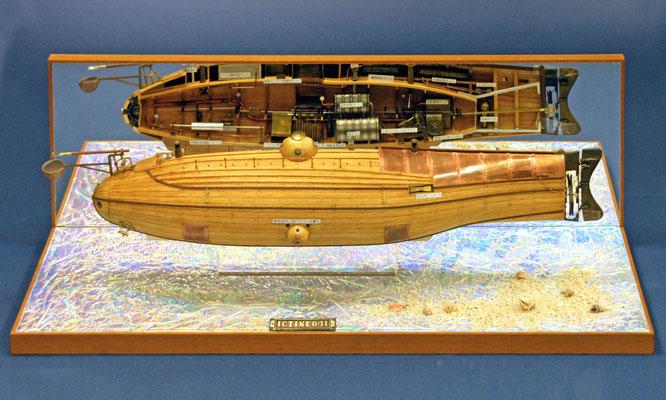 43    イクティネオ 二世    ICTINEO Ⅱ  年代:   1800    船籍:スペイン  縮尺:   1/24  アンフォラ・モデル   製作者: 関口正巳  製作期間:  2年