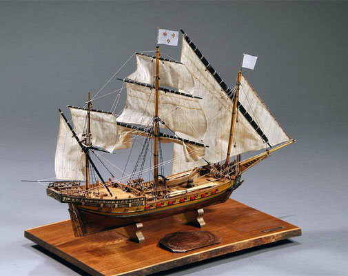 30-18 トロア・リス TROIS LIS  1750 フランス  1/100 スクラッチビルト  小田 衛 Mamoru Oda