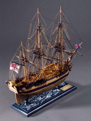 36-32 バウンティー H.M.S. BOUNTY 1784イギリス 1/64 松原 満 Mitsuru Matsubara