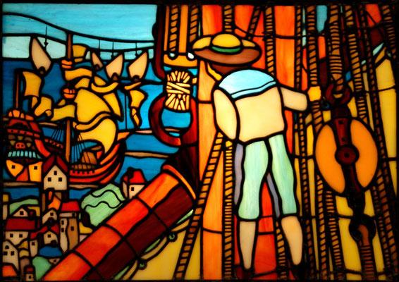 37 マックスフィールド・パリッシュの作品  年代:  20世紀中期   船籍: アメリカ  スクラッチビルト  製作者: 宮島俊夫  製作期間: 6ヶ月