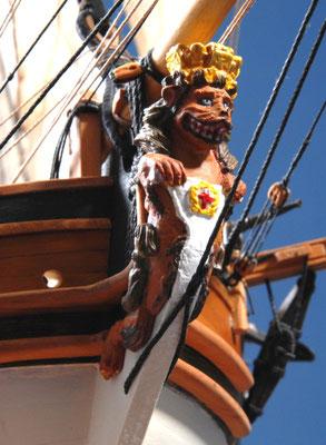 13 フェレット H.M.Sloop FERRETT 年代:    1711    船籍:イギリス  縮尺:    1/50    コーレル  製作者:  石渡明敏  製作期間:3年4ヶ月