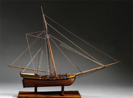 30-25 ヴァージニア・スループ Virginia Sloop  1768 アメリカ 1/48 モデルシップウエイ社  木村 護 Mamoru Kimura