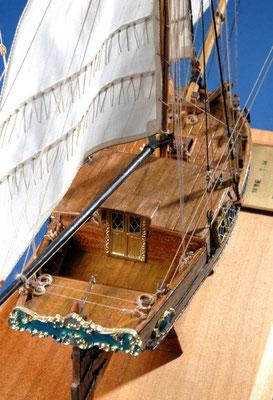 25 グレーテル GRETEL  年代:   18世紀中期   船籍:スエーデン   縮尺:   1/54    マモリ   製作者: 霞  崇  製作期間:1年3ヶ月