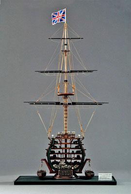 31-09 ビクトリー  H.M.S. VICTORY  1765年 イギリス  1/98  コーレル社 橋原宗重 Muneshige Hashihara 1805年のトラファルガー海戦におけ