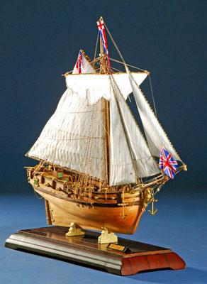 35-17  レゾリューション  HMS RESOLUTION   年代   18世紀初     船籍  イギリス    縮尺 1/70     素材   自作   Scratch built    製作者  松下 利夫   Toshio Matsushita