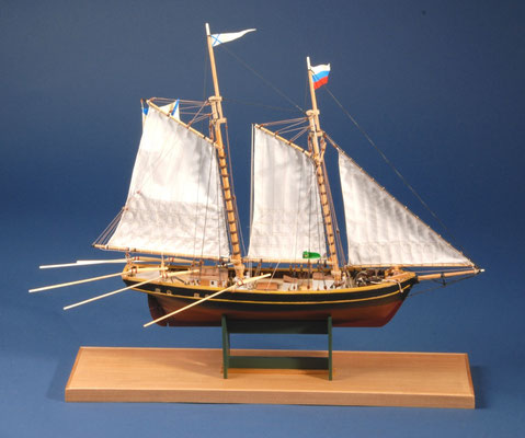 33 ヘダ(戸田)  HEDA  年代:    1855  船籍:  日本  縮尺:    1/60    スクラッチビルト  製作者: 竹本喜道  製作期間:  1年2ヶ月