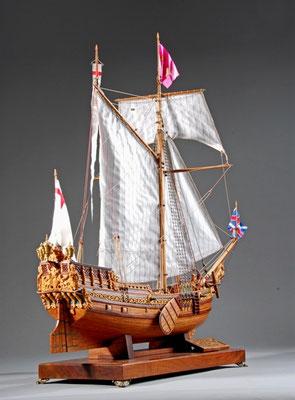 34-15 ロイヤル・ヨット  Royal Yacht  国 籍   nationality     イギリス 建造年  age     1675 縮 尺   scale   1/36 製作方法  scratchbuilt     自作  製 作:村石 忠一 Tadaichi Muraishi