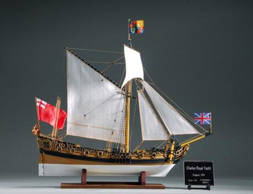 34-16 チャールズ・ロイヤル・ヨット Charles Royal Yacht  国 籍   nationality     イギリス 建造年  age     1674 縮 尺   scale  1/64  製作方法 kit 製 作:松原 満 Mitsuru Matsubara