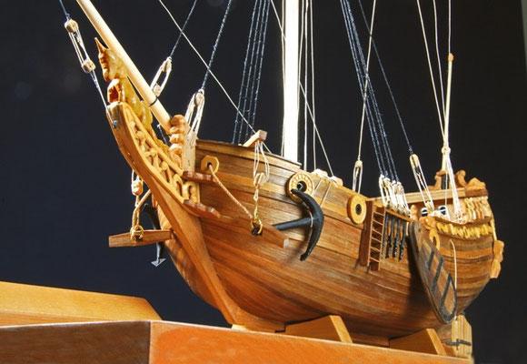 35-14  船名   ヨット・マリー YACHT MARY   年代   1673     船籍  イギリス    縮尺 1/54      素材   自作   Scratch built    製作者  上野 宣孝  Nobutaka Ueno