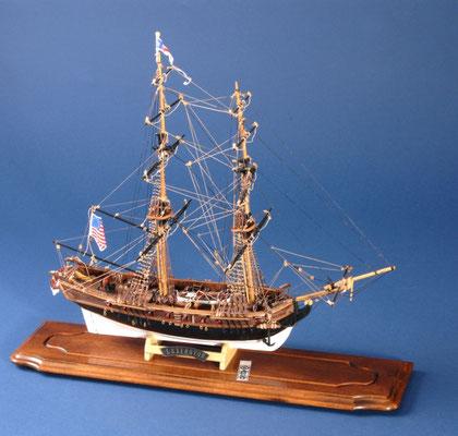 18 レキシントン LEXINGTON  年代:    1775    船籍:アメリカ  縮尺:    1/100    マモリ  製作者: 倉谷恭平   製作期間:10ヶ月