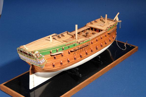 50    ノルスケ・レーベ    NORSKE L?VE  年代:   1765   船籍: デンマーク   縮尺:   1/75    ビリングボート  製作者: 金丸信次郎   製作期間:  3年