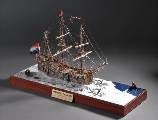 36-22 オランダの捕鯨船 BALENIERA OLANDESE 18th オランダ 1/80 青木 武 Takeshi Aoki