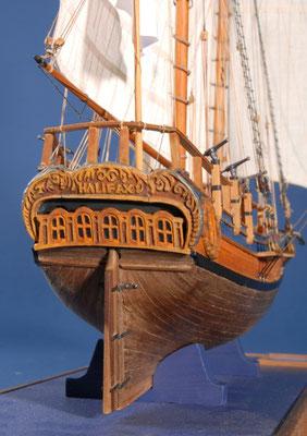 17 ハリファックス HALIFAX 年代:   1768  船籍: イギリス  縮尺:   1/54    マモリ   製作者: 塩谷敏夫    製作期間: 1年