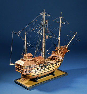35-6 アトランチカ   ATLANTICA   年代   16世紀初     船籍  ポルトガル    縮尺 1/54     素材   自作   Scratch built    製作者  谷亀 隆興  Takaoki Yagame