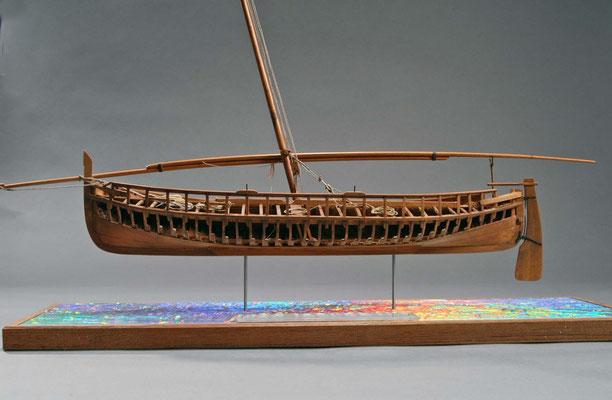 30-5 カタロニアボート  BARQUE CATALANE  1893 フランス  1/25 スクラッチビルト  関口 正巳 Masami Sekiguchi