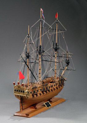 30-19 ネプチューン H.M.S.NEPTUNE  1692 イギリス 1/90 コーレル社  染谷 文男 Fumio Someya