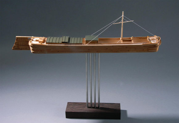 36-39 バトー・ドウ・カナール Bateau de canal  1850年 フランス  1/87 自作 Scratchbuilt  関口正巳 Masami Sekiguchi