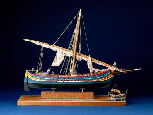 31 マルタの貨物船 LEUDO  年代:    19世紀    船籍:マルタ  縮尺:    1/32    マモリ  製作者:  東 康生  製作期間:8ヶ月