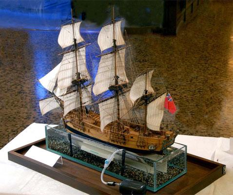 36-55 バウンティ H.M.S.BOUNTY  1784 年 イギリス 1/64 キット マモリ Mamoli 満原 俊博 Toshihiro Mitsuhara