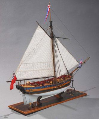 32-7 フェレット H.M.Sloop FERRETT  年代:  1711年  製作者:   佐藤憲史  製作期間:1年10ヶ月