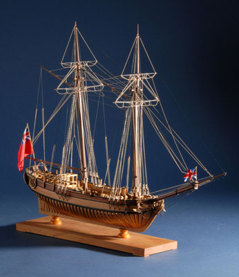 42 ハリファックス  HALIFAX  年代:   1768   船籍: イギリス  縮尺:   1/48   スクラッチビルト   製作者: 前川政司  製作期間:  2年