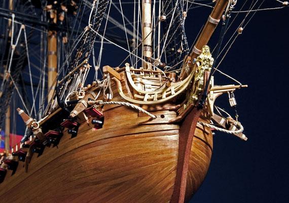 ベローナ  HMS BELLONA    年代   1760     船籍  イギリス   縮尺 1/100     キットメーカー コーレル COREL     製作者  中塚 裕  Yutaka Nakatsuka