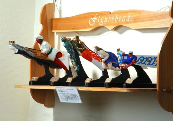 34-48 フィギャーヘッド6点  Six Figure Heads  製作方法 scratchbuilt     自作 製 作:宮島 俊夫 Toshio MIyajima